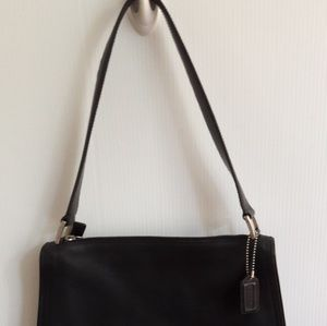 Coach Bags - Coach Black Leather Handbag Purse H92-6145